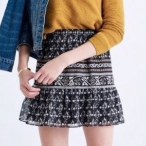 *SET Madewell Artisan Floral Elastic Skirt Medium
